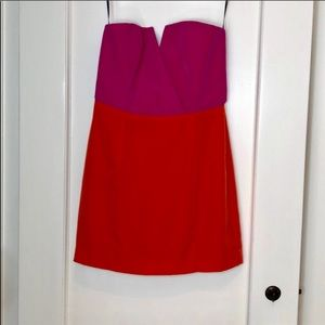 Naven Strapless Modern Fuchsia Pink Orange Dress